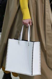Valentino White Rockstud Tote Bag - Fall 2018