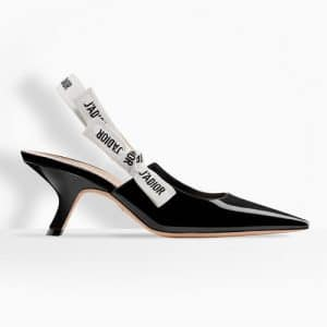 Dior Black Patent J'adior Slingback Pumps