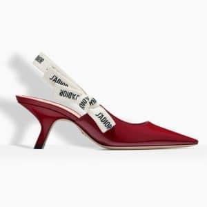 Dior Red Patent J'adior Slingback Pumps