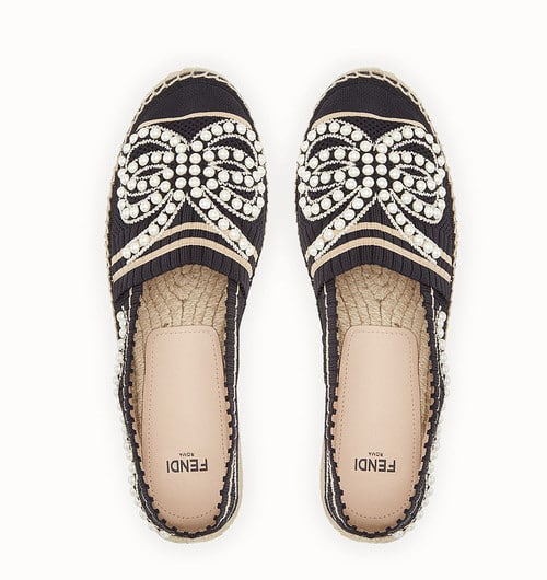 Fendi Black Yarn Espadrilles