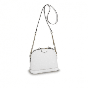 Louis Vuitton Blanc Epi Mini Alma Chain Bag