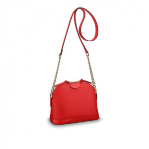 Louis Vuitton Coquelicot Epi Mini Alma Chain Bag