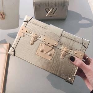 Louis Vuitton Gold Petite Malle Bag