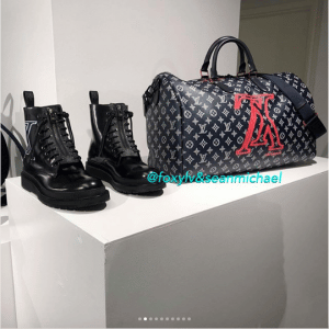 Louis Vuitton Monogram Upside Down Canvas Keepall Bandoulière and Shoes