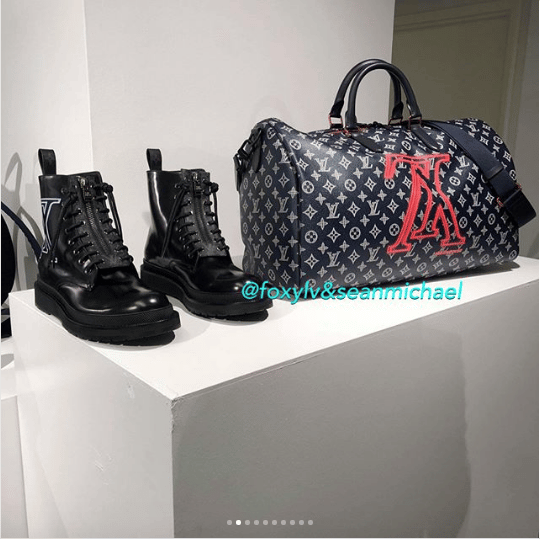 20880192303f Louis Vuitton Monogram Upside Down Canvas Keepall Bandoulière and Shoes.  IG  foxylv