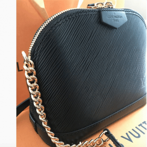 Louis Vuitton Noir Epi Mini Alma Chain Bag 2
