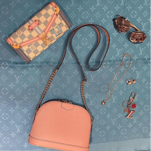 Louis Vuitton Rose Ballerine Epi Mini Alma Chain Bag