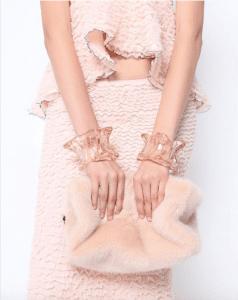 Proenza Schouler Fur Frame Clutch Bag