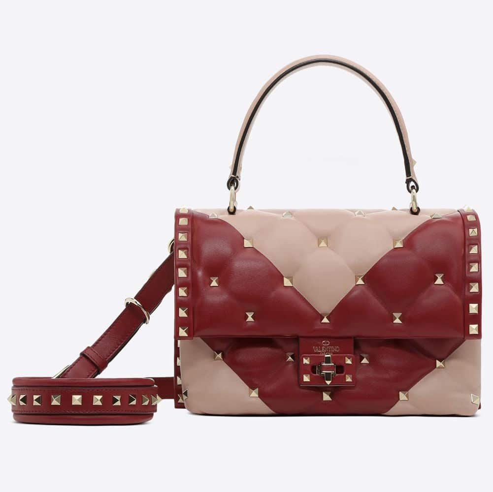 Red Candystud Leather Top Handle Bag Valentino Sale Browse Cheap Sale Shop For Low Shipping Fee Cheap Online Free Shipping Discount NmsxcSD4K