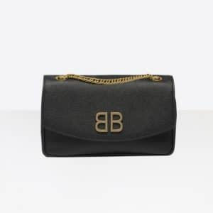 Balenciaga Black BB Chain Wallet Bag