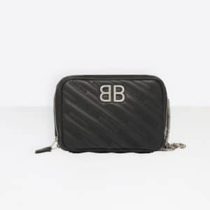 Balenciaga Black BB Reporter XS Bag