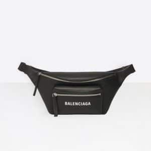 Balenciaga Black Everyday Logo Belt Pack Bag