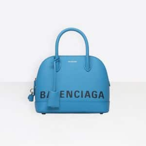 Balenciaga Bleu Turquoise Ville Top Handle S Bag