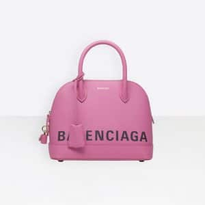 Balenciaga Rose Bubble Ville Top Handle S Bag