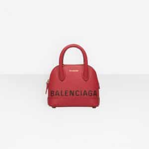Balenciaga Rouge Coquelicot Ville Top Handle XXS Bag