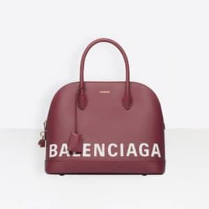 Balenciaga Rouge Grenat Ville Top Handle M Bag
