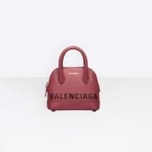 Balenciaga Rouge Grenat Ville Top Handle XXS Bag