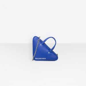 Balenciaga Royal Blue Triangle Duffle XS Chain Bag