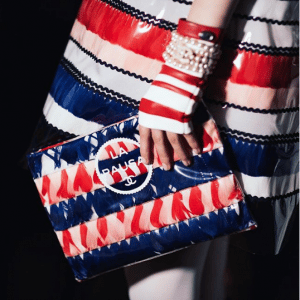 Chanel Blue/Red/White Pouch Bag - Cruise 2019