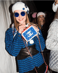 Chanel Blue/White CC Filigree Mini Bag - Cruise 2019