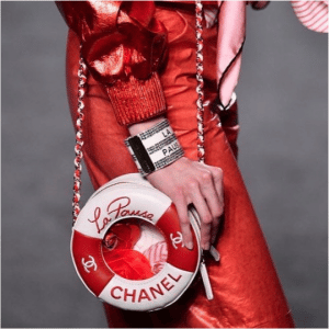 Chanel Red/White Lifebuoy Mini Bag - Cruise 2019