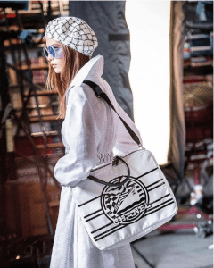 Chanel White/Black Printed Tote Bag - Cruise 2019