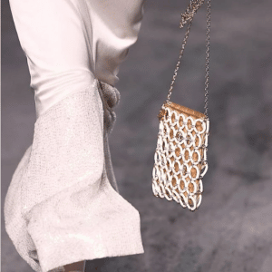 Chanel White/Gold Evening Bag - Cruise 2019