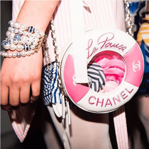 Chanel White/Pink Lifebuoy Mini Bag - Cruise 2019