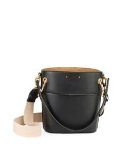 Chloe Black Smooth Calf Roy Mini Bucket Bag