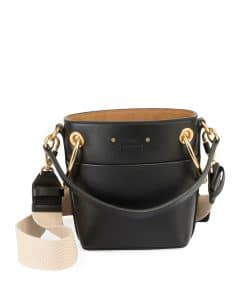 Chloe Black Smooth Calf Roy Small Bucket Bag