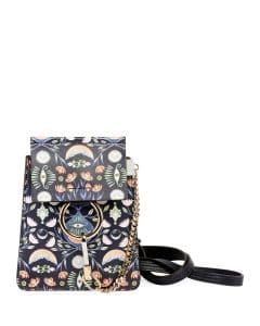 Chloe Blue Artistic Print Faye Bracelet Bag