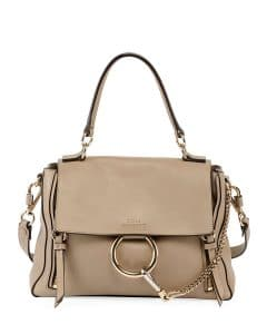 Chloe Gray Leather/Suede Faye Day Mini Shoulder Bag