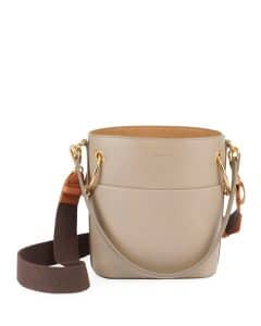 Chloe Gray Smooth Calf Roy Small Bucket Bag