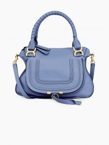 Chloe Light Blue Marcie Top Handle Bag