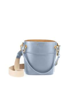 Chloe Light Blue Smooth Calf Roy Mini Bucket Bag