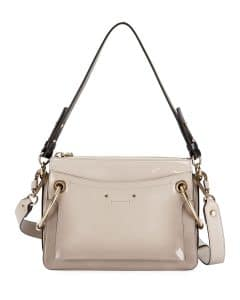 Chloe Light Gray Glossy Roy Small Bag