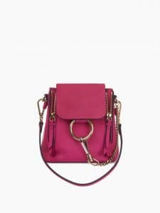 Chloe Pink Faye Mini Backpack Bag