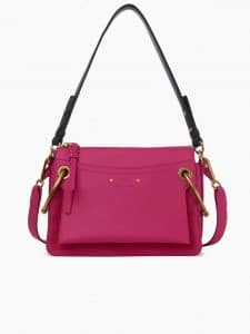 Chloe Pink Leather/Suede Roy Small Bag