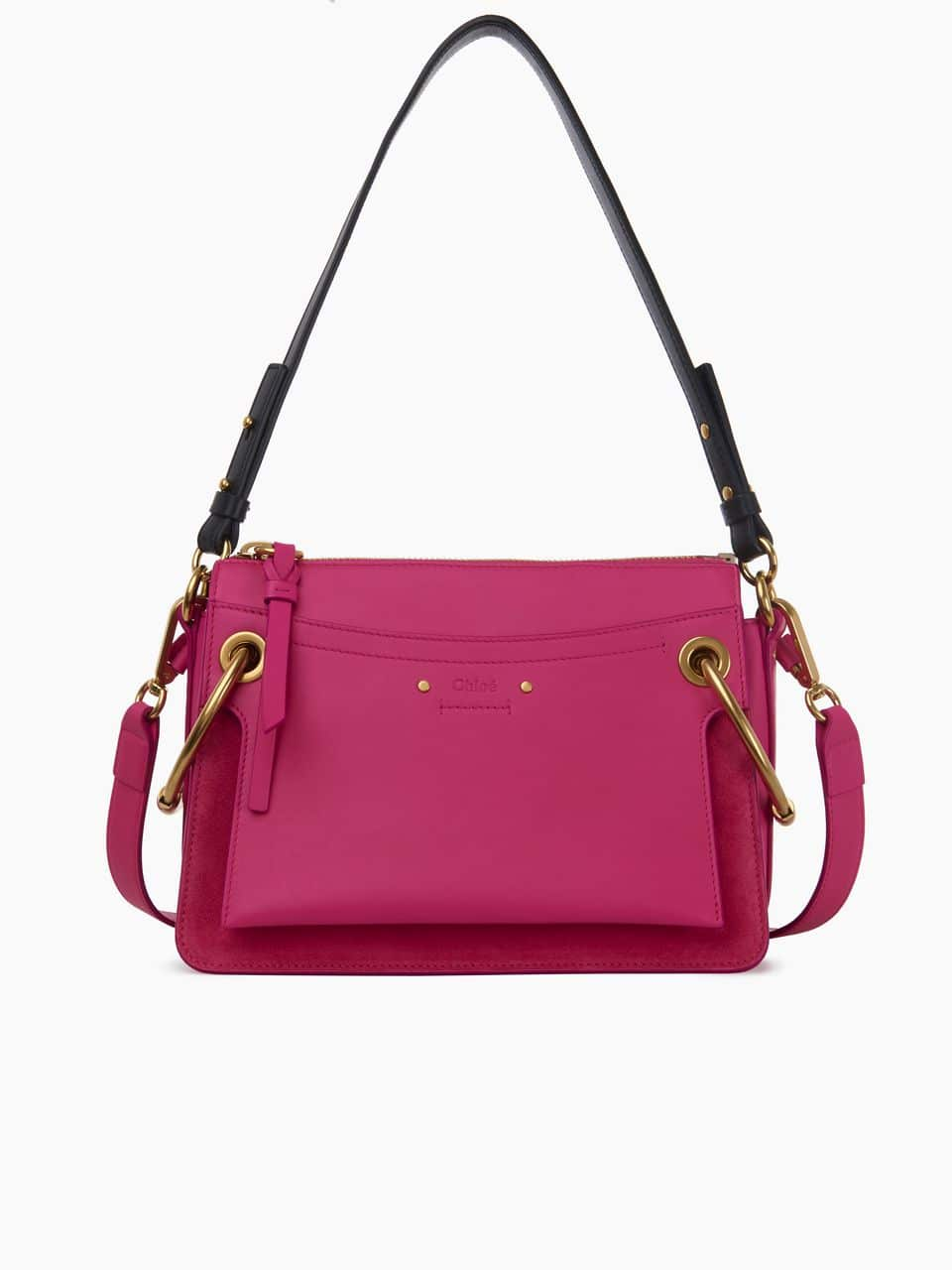 1d346aab8435 Chloe Pink Leather Suede Roy Small Bag