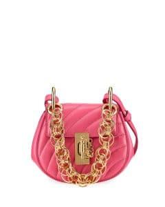 Chloe Pink Quilted Drew Bijou Nano Bag