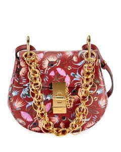 Chloe Plum Artistic Print Drew Bijou Mini Shoulder Bag