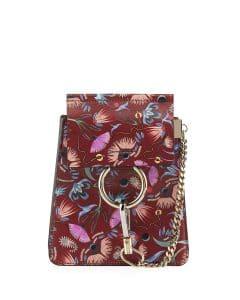 Chloe Plum Artistic Print Faye Bracelet Bag