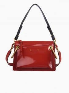 Chloe Red Glossy Roy Small Bag