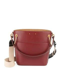 Chloe Red Smooth Calf Roy Small Bucket Bag