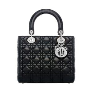 Dior Black Medium Lady Dior Bag