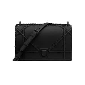 Dior Black Studded Medium Diorama Bag