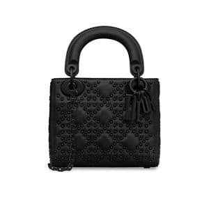 Dior Black Studded Mini Lady Dior Bag