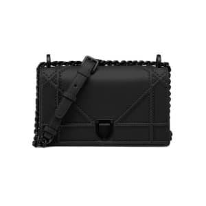 Dior Black Studded Small Diorama Bag