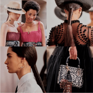 Dior Black/White Embroidered Lady Dior Bag - Cruise 2019