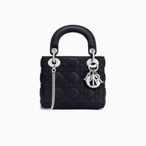 Dior Blue Lambskin Mini Lady Dior Bag